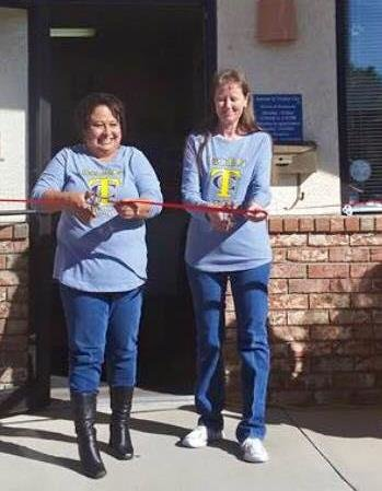 Lori Guerrrero and Diann Bandy at the official ribbon cutting on October 10th, 2015.